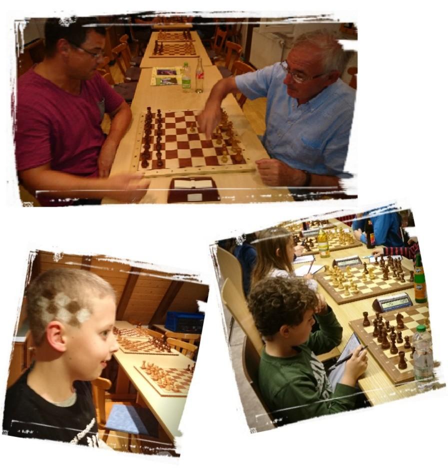 Spieler des Schachklub Randbauer Griesheim-Bohlsbach e.V. im Spiellokal in Offenburg-Griesheim